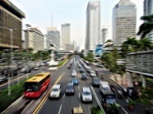 Kesibukan Kota Jakarta